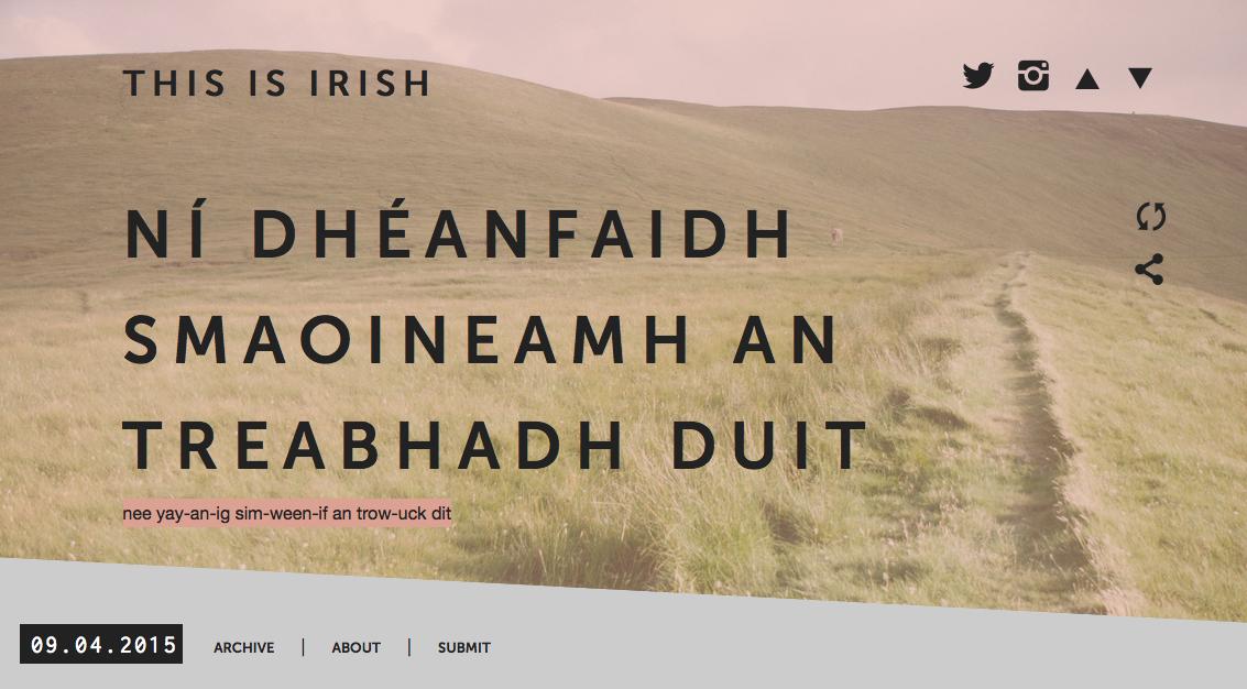 This is Irish